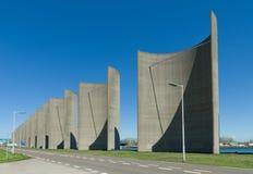 Concrete windbreak Stock Photo