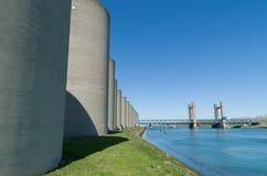 Concrete windbreak Stock Images