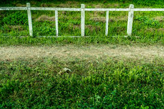 Concrete and wood fence Royalty Free Stock Photo