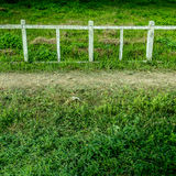 Concrete and wood fence Royalty Free Stock Images