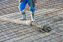 Concrete work Stock Image
