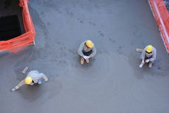 Concrete Workers Stock Images