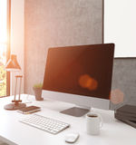 Concrete workplace toning Royalty Free Stock Images