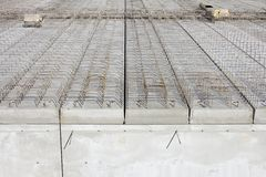 Concrete works. At building site Royalty Free Stock Photo