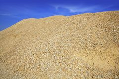 Concrete yellow gravel sand quarry mountain Stock Photography