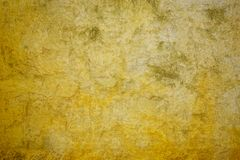 Concrete yellow wall Royalty Free Stock Photo