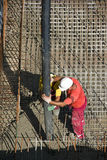 Concreting with concrete pump Royalty Free Stock Images