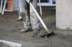 Concreting de vloer Royalty-vrije Stock Foto's