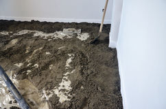 Concreting the floor Stock Image