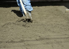 Concreting the floor Stock Photos
