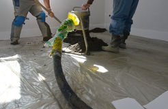 Concreting the floor Stock Photo