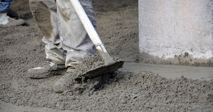 Concreting the floor Royalty Free Stock Photography