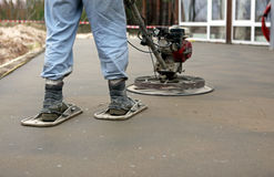 Concreting the floor. A concreting the floor in the sunny day Royalty Free Stock Images