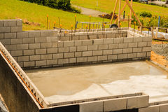 Concreting foundation of the house, New Zealand Stock Photography