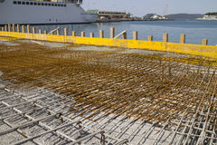 Concreting in the harbor Stock Photography