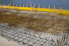 Concreting in the harbor Royalty Free Stock Photography