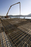 Concreting new cruiser terminal in the harbour. Concreting works on Construction site in Dubrovnik harbour Royalty Free Stock Image