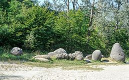 Concretions growing up, old trovant natural formed, cement sand,. Romania Europe, close up Royalty Free Stock Photo