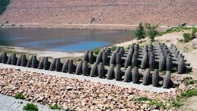 Concreto dado forma Special, material para a represa Fotografia de Stock Royalty Free
