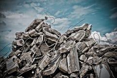 Concreto de la demolición Fotografía de archivo libre de regalías
