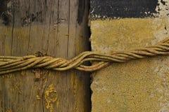 Concreto de madeira da textura com fio fotografia de stock