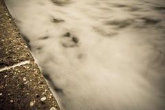Concreto e o mar Fotos de Stock Royalty Free