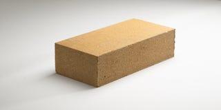 Concreto liso do tijolo em cores diferentes Em um fundo branco fotografia de stock