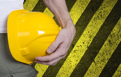 Free Conctruction Helmet In Workers Hand Royalty Free Stock Photography - 74324277
