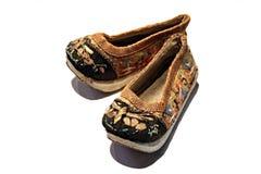 Concubine shoes. Japanese concubine shoes Royalty Free Stock Photo