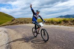 Concurrence ascendante allante à vélo Photos stock