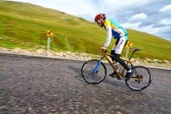 Concurrence ascendante allante à vélo Image stock