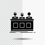 concurrence, concours, expert, juge, icône de fortune de Glyph sur le fond transparent Ic?ne noire illustration stock