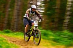 Concurrence d'extrémité de vélo de montagne Image libre de droits