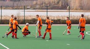 Concurrence d'hockey de champ de la jeunesse Photographie stock
