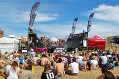 Concurrence de BMX à l'événement implacable de Boardmasters Photos stock