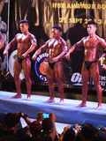 Concurrence de bodybuilding dans Khon Kaen Thaïlande 2013 Photo libre de droits