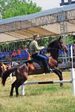 Concurrence de cavaliers de cheval Photos libres de droits
