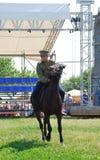 Concurrence de cavaliers de cheval Image libre de droits