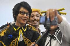 Concurrence de Cosplay en Indonésie Images stock