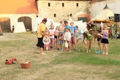Concurrence de jonglerie pour des enfants Image libre de droits