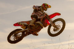 Concurrence de motocross Ligue catalanne de course de motocross Photos libres de droits