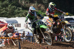 Concurrence de motocross Ligue catalanne de course de motocross Images stock