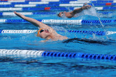 Concurrence de natation Images stock