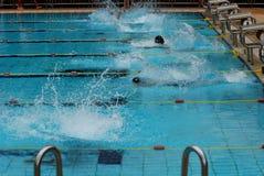 Concurrence de natation Photographie stock libre de droits