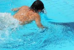 Concurrence de natation Photos libres de droits