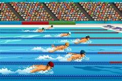 Concurrence de natation Images libres de droits