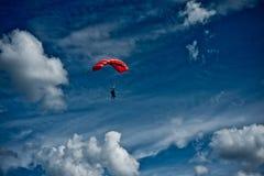 Concurrence de Parachutism Photographie stock