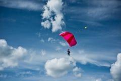 Concurrence de Parachutism Photos stock