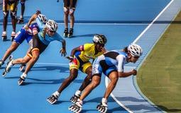 Concurrence de patinage de rouleau Image stock