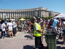 Concurrence de recyclage à Bucarest Photos stock